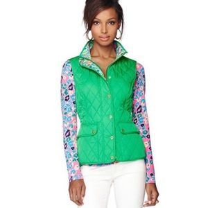 Lilly Pulitzer Getaway Green Quilted Vest